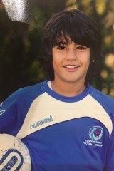 Young gun: Daniel Arzani playing in Sydney's eastern suburbs as a kid.