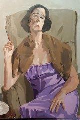 """Liz Stute's """"The Long Soiree, 1924, at Miss Collins' Place (Self Portrait)""""."""