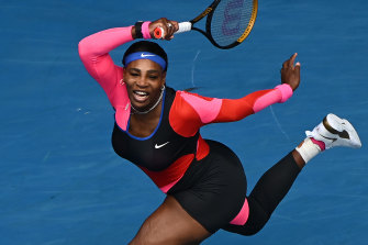 Serena Williams' catsuit was inspired by US track champion Florence Griffith Joyner.