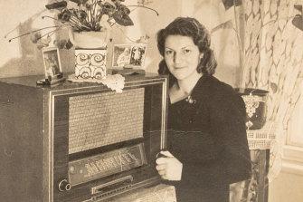 Magda Hellinger in Czechoslovakia, circa 1948.