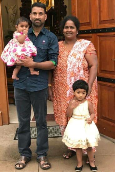 Priya and Nadesalingam and their two Australian-born children