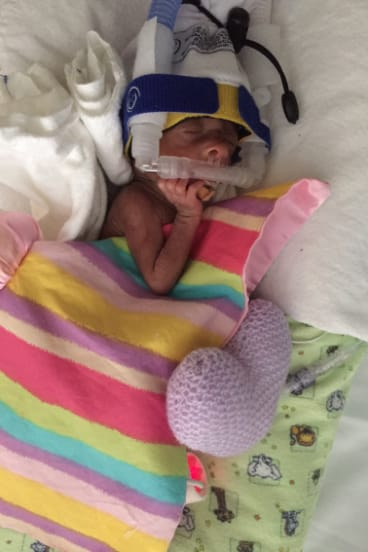 Chantal's daughter Willow, soon after her birth in 2016.