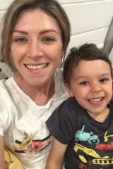 Finn and his mum Tara Rich.