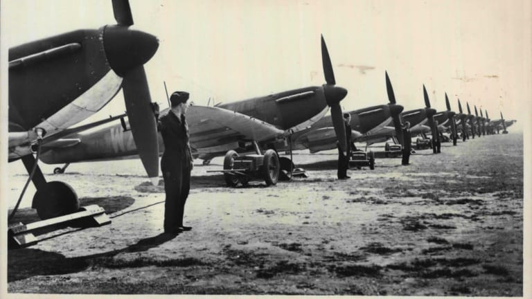More than 1200 Spitfires had been delivered to the RAF at the outbreak of the Battle of Britain.