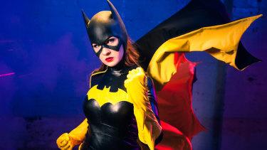 Cosplay ambassador Jillian Wall in costume as Batgirl.