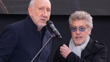 The Who, from left, Pete Townshend and Roger Daltrey.