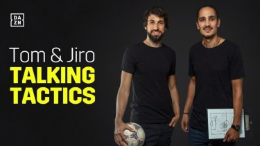 Thomas Broich and Jerome Polenz on their DAZN streaming show.