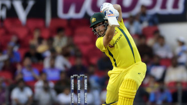Aaron Finch was happy to get another big ODI score.