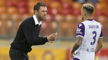 Western Sydney fans chanted to their former coach Tony Popovich throughout the match.