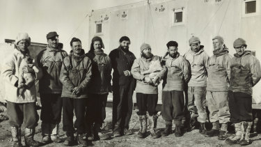 Members of the Antarctic Research Expedition, Mawson Station, Antarctica, 1954.