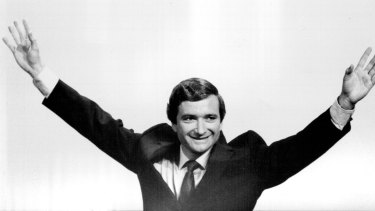Nick Greiner celebrates an election win in March 1984.