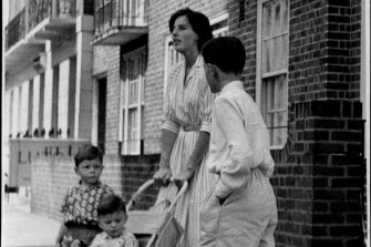 Blake's first wife Gillian, pictured in 1966 with their three sons, had no idea her husband was a double agent. She would visit him in Moscow in the 1990s to make peace.