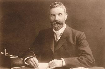 The poets' friend: Alfred Deakin, Australian prime minister in 1905.