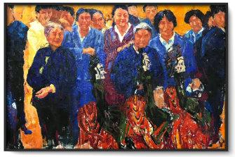 One of Wang's oil paintings.