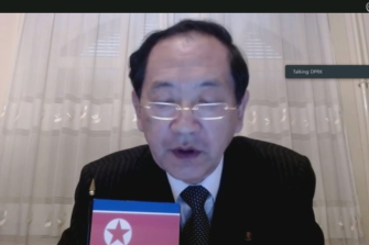 North Korean official Han Tae Song, speaking from a country with a notorious record of human rights abuses, recommends that Australia cease cruel and inhuman treatment of those in detention during the UN review.