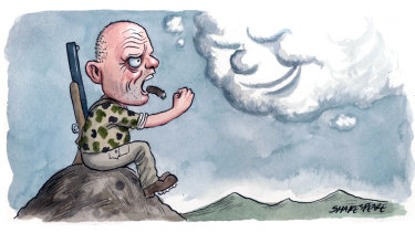 "One email said David Leyonhjelm was just an ""old man yelling at clouds"". Illustration: John Shakespeare"
