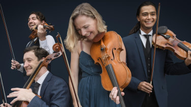 Phoenix Quartet led by Dan Russell (violinist with facial hair) is coming to ANU School of Music.