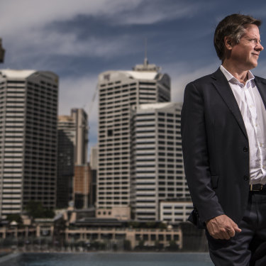 """""""Surprising"""" how many families have moved into the apartments opened in Darling Harbour so far: Lendlease's Rob Deck."""