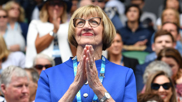 Margaret Court at the Australian Open in 2017.