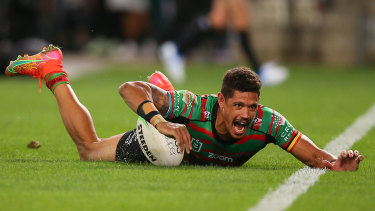 Dane Gagai trained with a guard over his left hand on Monday.
