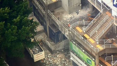 "Infrastructure NSW says it will not begin ""hard demolition"" until the court injunction is lifted."