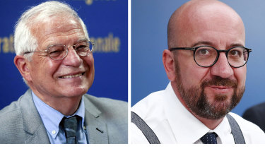 The women will be joined by, from left, Josep Borrell and Charles Michel.