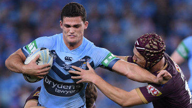 Pick and stick?: Nathan Cleary is struggling to retain his NSW No.7 jumper.