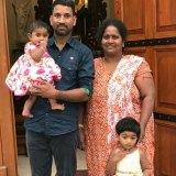 Priya and Nadesalingam with their two Australian-born children.