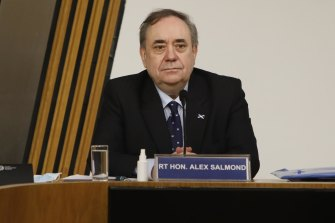 Alex Salmond, former first Minister, appears before the Parliament Committee on the Scottish Government Handling of Harassment Complaints last week.