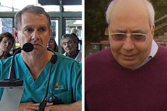Dr Nigel Roberts, left, helped to expose the conduct of disgraced gynaecologist Emil Gayed, right.