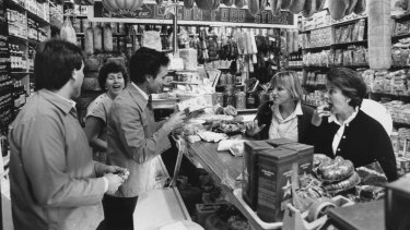 Lygon Food Store, Carlton in 1987.