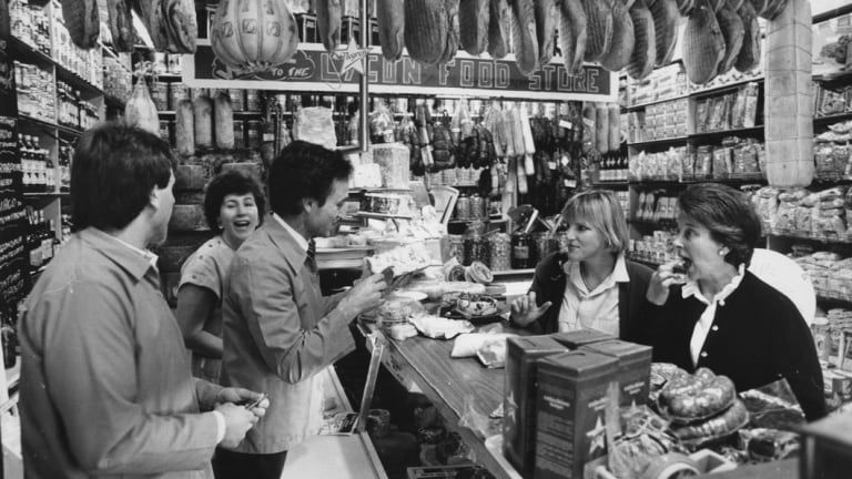 The once booming Lygon Food Store pictured in 1987.