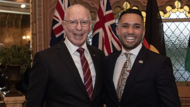 NSW Governor David Hurley has mentored Isaiah Dawe for the last year.