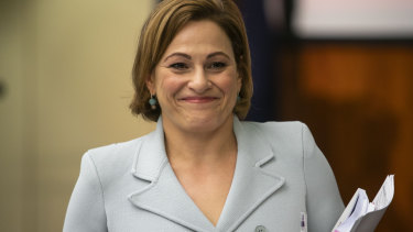 Jackie Trad has stepped down from her role heading up the Cross River Rail project but insists she had no role in the purchase.