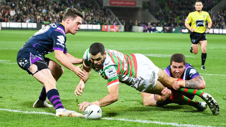 Powerhouse: Greg Inglis playing fullback for Souths could spell trouble for NSW.