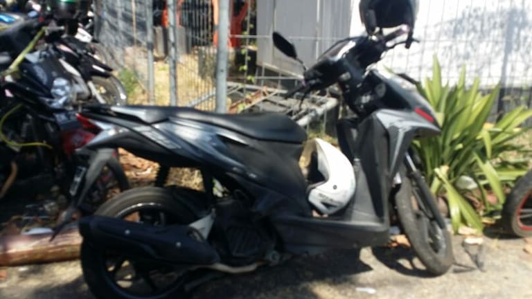 The scooter that was involved in the accident.