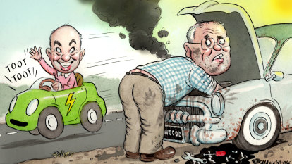 NSW's green machine leaves PM's jalopy for dust