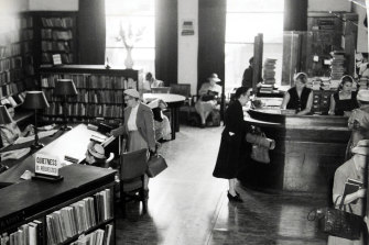 The library at its peak, in 1957.