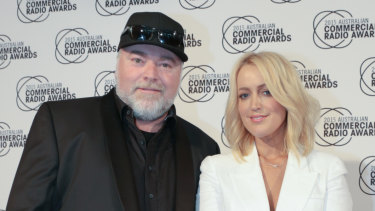 "KIIS FM hosts Kyle Sandilands and Jackie ""O"" Henderson."