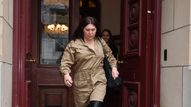 Roberta Williams leaves the Supreme Court in Melbourne in July last year.