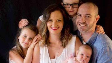 Photo of NSW Police Senior Constable Jonathan Wright and his family.