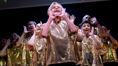 Need to save a cheesy musical about dancing seniors? Call Nancye Hayes