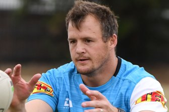 Josh Morris has asked for a release from the Sharks - but the club has refused to budge despite salary cap pressures.
