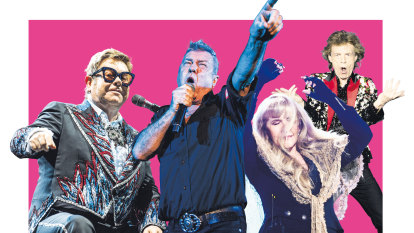 Youth may be king in the digital universe but Boomers rule rock concerts and action movies