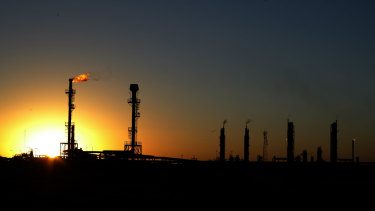 Santos' Moomba petroleum and natural gas plant in South Australia's Cooper Basin.