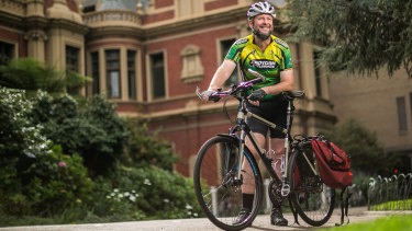 Ben Kreunen has started riding his bike to work most of the way amid the coronavirus outbreak.