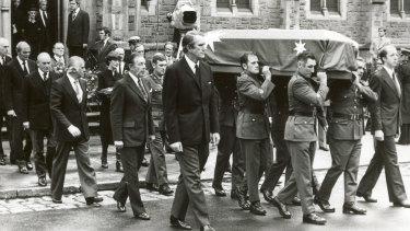 The funeral of Sir Robert Menzies