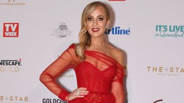 Bickmore at the 2019 Logie Awards.