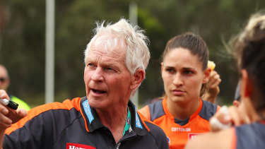 Alan McConnell was the Giants' first staff member but he remains stood down due to football department cuts.