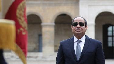 Egyptian President Abdel-Fattah el-Sissi was called 'unjust' in the Facebook post.